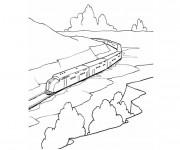 Coloriage Train Gratuit à Imprimer Liste 60 à 80