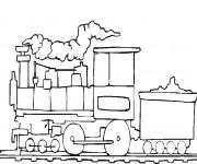 Coloriage Train de transport de marchandise