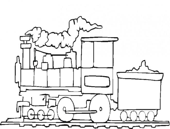Coloriage Train De Transport De Marchandise Dessin Gratuit à Imprimer
