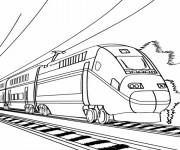 Coloriage Train électrique moderne