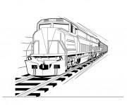 Coloriage Train en vecteur