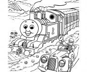Coloriage Train et voiture magiques