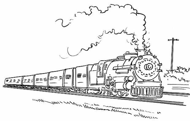 Coloriage Train gratuit à imprimer