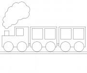 Coloriage Train et wagon pour enfant