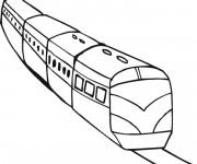 Coloriage Train facile maternelle