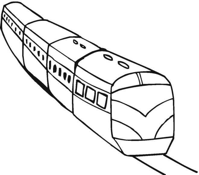 Coloriage Train Facile Maternelle Dessin Gratuit A Imprimer