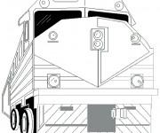 Coloriage Train géant stylisé