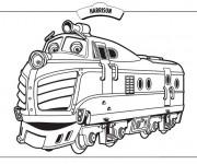 Coloriage Train Harrison dessin animé