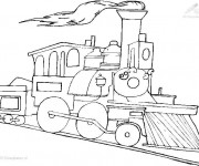 Coloriage Train maternelle en couleur