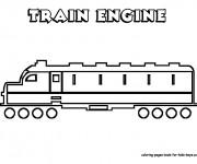 Coloriage Train moderne stylisé