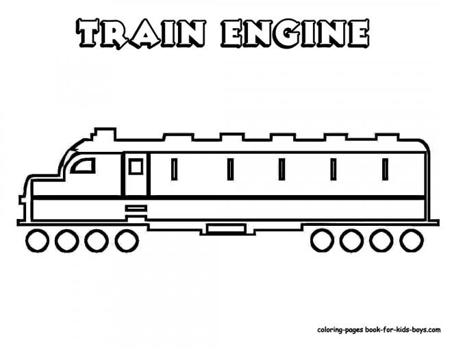 Coloriage et dessins gratuits Train moderne stylisé à imprimer