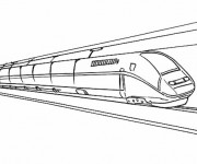 Coloriage Train rapide duplex