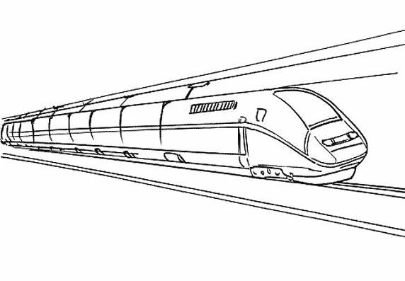 Coloriage et dessins gratuits Train rapide duplex à imprimer