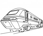 Coloriage Train roulant