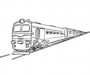 Coloriage Train simple