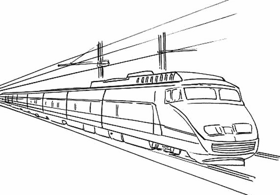 Coloriage train tgv dessin gratuit imprimer - Train dessin anime chuggington ...