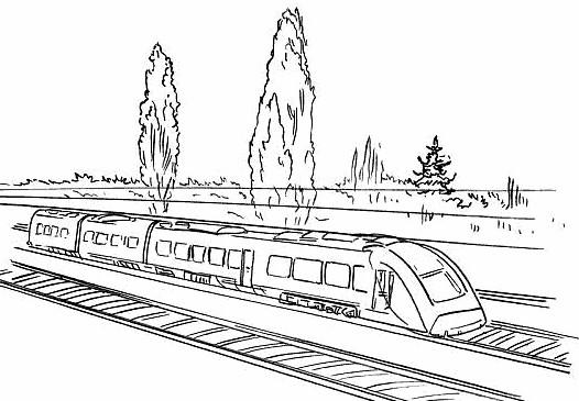 Coloriage train tgv duplex sur la route dessin gratuit - Train a vapeur coloriage ...