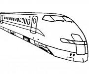 Coloriage Train tgv en ligne