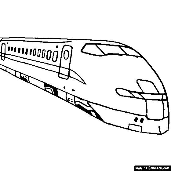 Coloriage Train Tgv En Ligne Dessin Gratuit à Imprimer