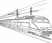 Coloriage Train tgv ultra rapide