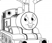 Coloriage Train Thomas mignon