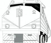 Coloriage Train tout puissant