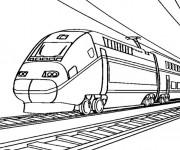 Coloriage Train très rapide