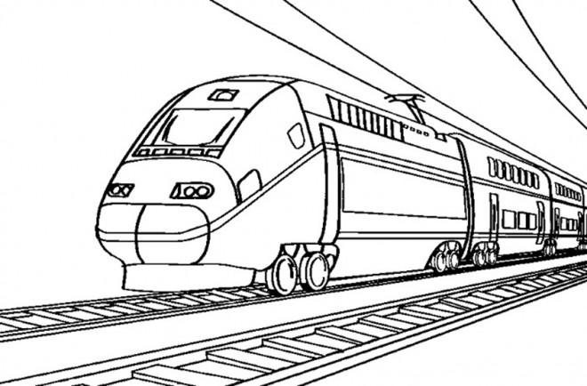 Coloriage et dessins gratuits Train très rapide à imprimer