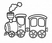 Coloriage Un petit Train à vapeur Jouet