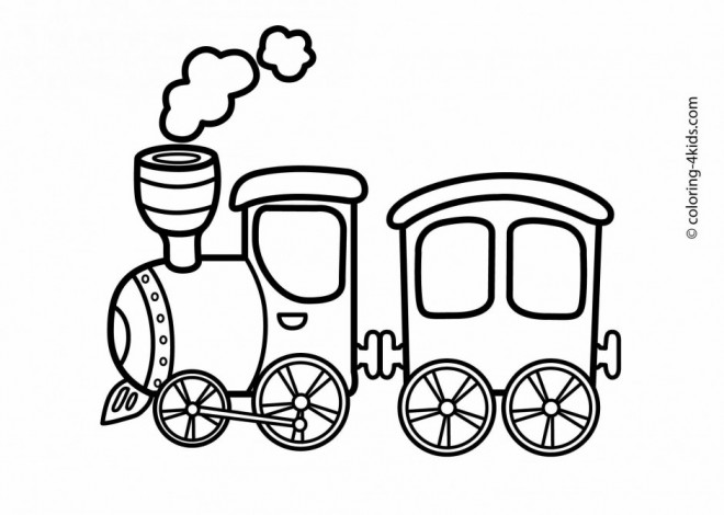 Coloriage Un Petit Train A Vapeur Jouet Dessin Gratuit A Imprimer