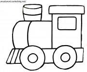 Coloriage Un Train à colorier