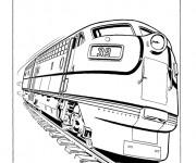 Coloriage Un Train qui roule