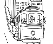 Coloriage Tramway 1