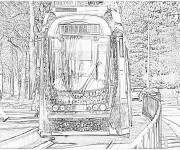 Coloriage Tramway 12
