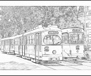 Coloriage Tramway 17