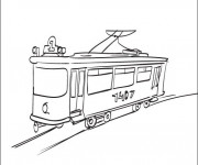 Coloriage Tramway 4
