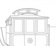 Coloriage Tramway à colorier