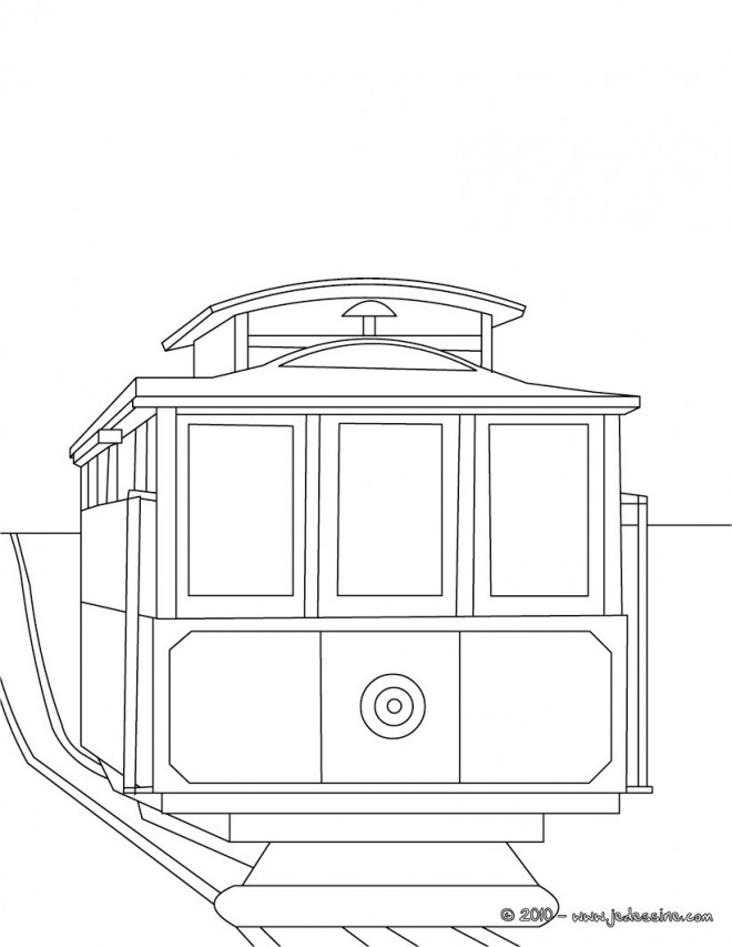Coloriage et dessins gratuits Tramway à colorier à imprimer
