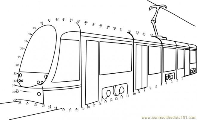 Coloriage et dessins gratuits Tramway à compléter à imprimer