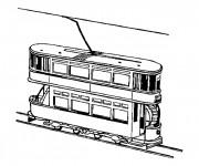 Coloriage Tramway à deux étages