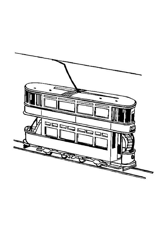 Coloriage et dessins gratuits Tramway à deux étages à imprimer