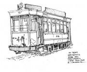 Coloriage et dessins gratuit Tramway ancien à imprimer