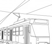 Coloriage et dessins gratuit Tramway duplex à imprimer