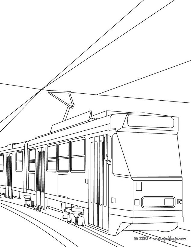 Coloriage et dessins gratuits Tramway duplex à imprimer
