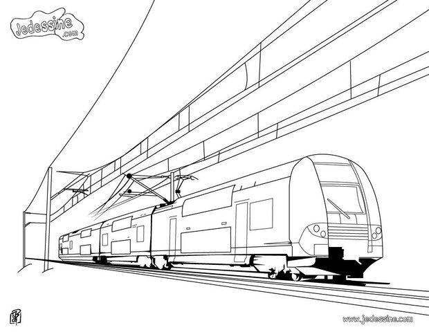 Coloriage tramway duplex moderne dessin gratuit imprimer - Dessin tramway ...