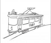 Coloriage Tramway en ligne