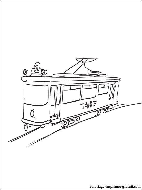 Coloriage et dessins gratuits Tramway en ligne à imprimer