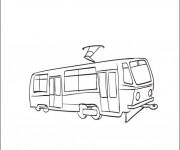 Coloriage et dessins gratuit Tramway facile à imprimer