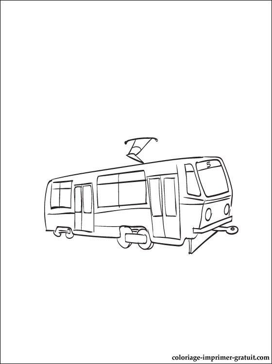 Coloriage et dessins gratuits Tramway facile à imprimer