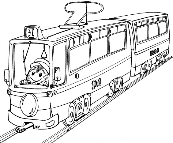 Coloriage et dessins gratuits Tramway magique pour enfant à imprimer